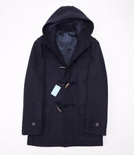 NWT $1995 BATTISTI NAPOLI Navy Blue Wool Toggle-Front Duffle Coat 50/M Italy