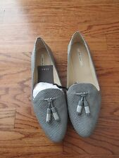 Women 's ZARA GREY EMBOSSED SLIPPERS FLAT SHOES SIZE  40 USA 9