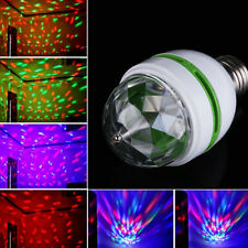 HOT E27 RGB Crystal Ball Rotating LED Stage Light Bulbs Disco Party Bulb Lamp SE