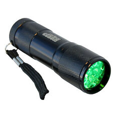 Green Light 9 LED Pocket Aluminum Flashlight for Night Walking Hunting Fishing