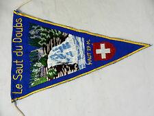 "Vintage Oldtimer  Andenken Wimpel pennant "" Le Saut du Doubs  "" Wohnwagen  etc."
