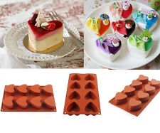 Silicone Hearts Baking Cake Chocolate Soap Candy Jelly Ice Mold Mould Pan 8-Cav