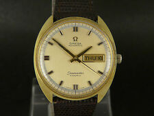 Vintage SWISS Omega Seamaster Cosmic gold dial auto date day gold plated watch