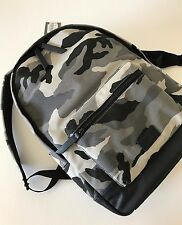 Fossil Men Grey Multi Camo Canvas Leather Estate Campus Backpack MBG9218258 NWT