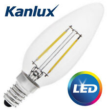 Kanlux 2W 21W Equivalent Clear LED Candle Light Bulb E14 SES Warm White 2700K