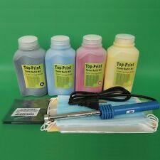 4 PK Toner Refill For Samsung clp-300 CLX-2160 CLX-3160 with Chips