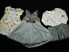 100% Next 12-18 months baby toddler girls clothes bundle signature sequin dress