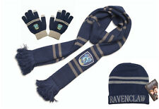Harry Potter Ravenclaw Knit Scarf+Cap/Beanie/Hat+Gloves Soft Warm Costume Gift