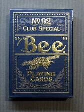 Blue Golden Bee Playing Cards by USPCC