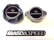 MAZDA RACING CNC BILLET OIL FILLER CAP & 1.3KG RADIATOR CAP KIT