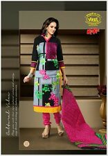 Vivel Kitkat Printed Cotton Unstitched Dress Material Design No - 5113