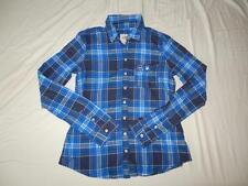 New Women's Hollister Blue Plaid Shirt - Size M - NWOT