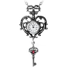 ALCHEMY HEART KEY FOB WATCH TEMP DE SENTIMENT STEAMPUNK GOTHIC PENDANT +GIFT BOX