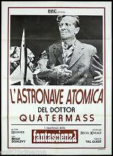 L'ASTRONAVE ATOMICA DEL DOTTOR QUATERMASS MANIFESTO CINEMA SHI-FI BBC POSTER 2F