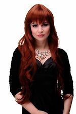 Wavy Long Wig with beautiful Fringe Red Copper red approx. 31 1/2in 6311-130