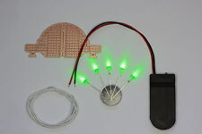 Alien Saucer Kit : FR2 Perf Board, LEDs, CR2032 Battery Holder, Battery,Wire