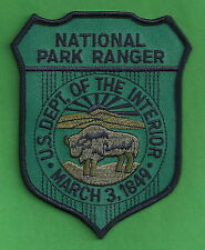 U.S. NATIONAL PARK RANGER DEPARTMENT OF THE INTERIOR POLICE PATCH BLUE
