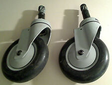 Qty (2): Acuson Seimens Ultrasound System Cart Wheels Castors USED