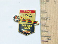 Bobsled Team Pin   1992  USA Bobsled Racing  Vintage  Pin  Kellogg's (Ski#240)