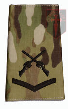 L/CPL Black on MULTICAM MTP SAA  Rank Slide Lance Corporal ( Skill At Arms