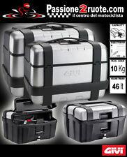coppia valigie bauletti laterali Monokey caseside Givi TRK46 Trekker 46 lt moto