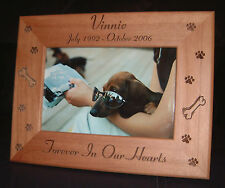 Personalized Engraved Pet Memorial Dog Cat 5x7 Frame