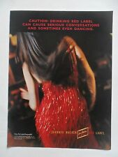 1997 Print Ad Johnnie Walker Red Label Whiskey ~ Sexy Girl Sparkly Red Dress