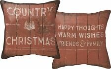 "COUNTRY CHRISTMAS Decorative Throw Pillow, 12"" x 12"", Primitives by Kathy"