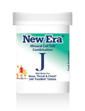 New Era Combination J (Tissue Salts) 240 Tablets COUGHS, COLDS, CHESTINESS