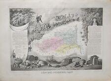 Département des Pyrénées-Orientales - Carte géographie ancienne - 1849 - France