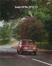 Saab 96 & 95 V4 1972-73 Original UK Sales Brochure Pub. No. IN 19048