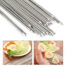 20 PCS Stainless Steel Skewers BBQ Grill Stick Needle Kebab 35cm Camping Picnic