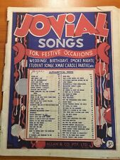 JOVIAL SONGS FOR FESTIVE OCCASIONS - VINTAGE SHEET MUSIC BOOK