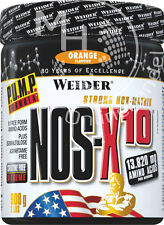 Weider Nos-X10 (35,67€/Kg) 908g ORANGE - Pre Workout Drink enthält Taurin