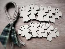 Wooden plain angels Shapes Lasercut Craft Xmas Wedding 10 Pack,6 cm decoration