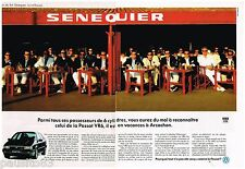 PUBLICITE ADVERTISING 0105  1991  VOLKSWAGEN  PASSAT  VR6 (2p) SENEQUIER ST TROP