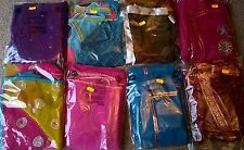 Children's bollywood designer sarees assorti chemisier pour fille 6-12 ans