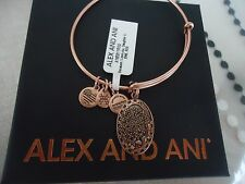 Alex and Ani Because I Love You DAUGHTER II ROSE GOLD Bangle NWT Card & Box