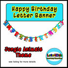 JUNGLE SAFARI ZOO ANIMALS PARTY LETTER BANNER - PARTY DECORATION - 1 PACK