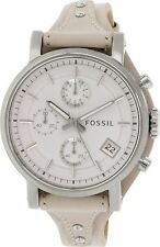 Fossil Women's Boyfriend ES3811 Silver Leather Quartz Watch