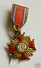 b219 POLAND CROSS OF MERIT MEDAL MINIATURE