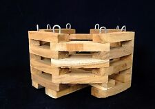 Orchid basket , wood pot ,wood basket for fern , Hanging  & Wall Mounted Basket