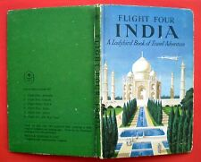 Flight Four India vintage Ladybird book Taj Mahal Bombay Delhi travel adventure;