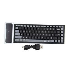 New Flexible Silicone Wireless Bluetooth Mini Keyboard for PC Laptop iPad  GU