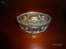 Royal Gallery Silverplated Oval Jewelry Box With Shell Design