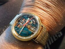 Original 1967 Men's 10K Yellow Gold Accutron Spaceview Watch 214