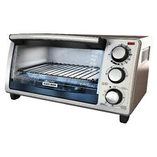 BLACK + DECKER Stainless 4-Slice Toaster Oven