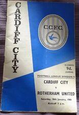 Cardiff City v Rotherham United, 20 January 1968