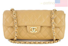 Chanel Camel Beige Caviar East West Classic 2.55 Shoulder Flap Bag 61556