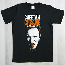 CAMISETA Manga Corta Negra CHEETAH CHROME & SEÑOR NO Talla XL . dead boys punk
